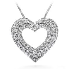 Silk Pave Heart Pendant Necklace  #MyHOFWeddinglook for grandmother- beautiful like her
