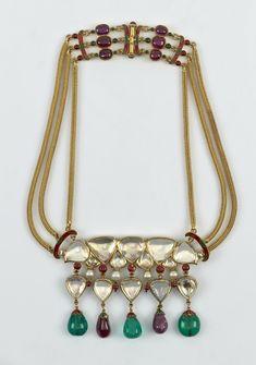 Mughal Jewelry, Indian Jewelry, Gold Jewelry, Indian Necklace, Men Necklace, Beaded Necklace, Necklaces, Joseph, Prince