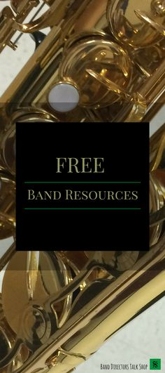 FREE band director resources including lesson plans, band recruiting strategies, beginning band games and activities, band motivation, woodwind pedagogy, brass pedagogy, band room decor, band rehearsal drill and techniques and more!