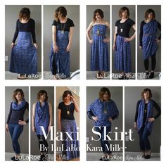 10 ways to wear a LuLaRoe Maxi Skirt for spring and summer fashion trends and style inspiration. Shop here: https://www.facebook.com/groups/LularoeKaraMiller/