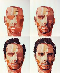 Little White Lies - Shame Cover - Michael Fassbinder - by Paul Willoughby - process stages