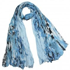 Street Style Rose Flower Leopard Print Chain Link Fence Long Scarf Shawl Sarong
