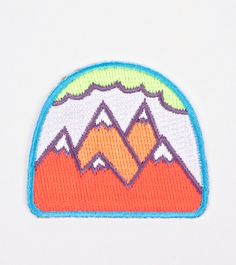 Neon Mountains Patch | WOCOLATE