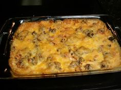 Dorito Casserole from Food.com:   This used to be a favorite years ago when I first got married. :) Easy!