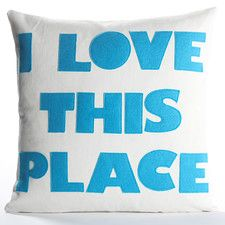 I Love This Place Decorative Pillow