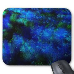 Blue Explosion Of Color Abstract Design Mouse Pad