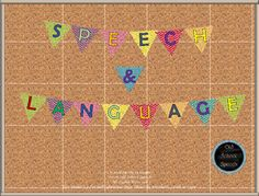 Need a little something extra for your wall? This Speech & Language Banner will add color to your room. There is one letter per page, so your banner will be big enough to draw attention to the center of your room, or wherever you decide to hang it.