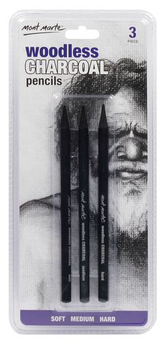Art Shed Online - Mont Marte Woodless Charcoal Pencils 3pce, $4.95 (http://www.artshedonline.com.au/mont-marte-woodless-charcoal-pencils-3pce/)