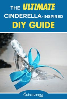 The following Cinderella DIY guide will turn your dreams into reality! Quinceanera.com's Ambassador, America Fontenot, shows you how to easily make Cinderella-inspired quinceanera invitations and centerpieces: - See more at: http://www.quinceanera.com/diy/cinderella-diy-guide/?utm_source=pinterest&utm_medium=social&utm_campaign=diy-cinderella-diy-guide#sthash.SWpCBERN.dpuf