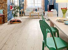 Haro Alpine Oak White - Tritty 100 Gran Via - 526 710 Timber Flooring, Laminate Flooring, Parquet Haro, Dining Chairs, Dining Table, Decoration, New Homes, Wood, Interior