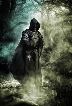 the executioner by dhe-art on DeviantArt Vampire Pictures, Gothic Pictures, Dark Pictures, Dark Fantasy Art, Fantasy Artwork, Dark Art, Male Angels, Angels And Demons, Sexy Cat Costume