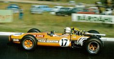 John Love in a Gunston-branded Brabham Repco at the 1968 South African Grand Prix. Gunston Tobacco were the first to put full Sponsorship on a F1 Car ahead of Colin Chapman at tihis Venue,however Team Lotus got the full credit starting at Spain that Year because they ran in the full World Championship. interesting Trivia.