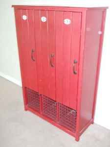 Lockers...I would love to put this in a baseball themed boy's room