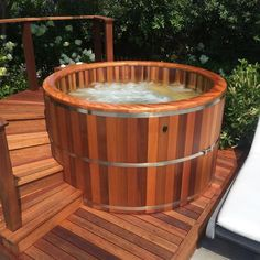 Custom Cedar Hot Tub  ~  Create yours today!!  www.mainecedartubs.com