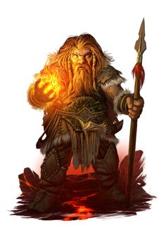 Dwarf Male Shaman - Pathfinder PFRPG DND D&D d20 fantasy