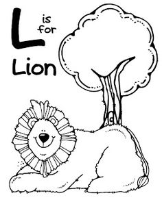 We Love Being Moms!: A-Z Zoo Animal Coloring Pages  -  L  -  Coloring pages free printable