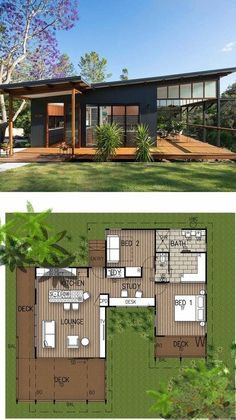 Modern Tropical Home is a Granny Flat for a Hip Elderly Couple Modern Tropical, Tropical Houses, Tiny House Design, Modern House Design, Small Modern House Exterior, Lounge, Modern Architecture House, Tropical Architecture, Container Architecture