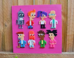 Futurama Perler Bead Wall Art by MandogDesigns on Etsy
