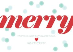 December 14th: the last day to order custom holiday cards! Merry Merry  Set of 25 Personalized Holiday by moderninkstationery