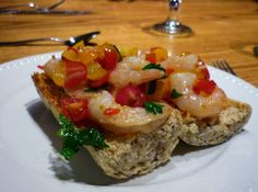 Shrimp Bruschetta Salad   recipe from Making Life Sweet