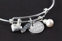 Marathon Bracelet Custom Engraved, Half Marathon Bangle, Jewelry for Runners, 13.1 26.2 , 925 Sterling Silver