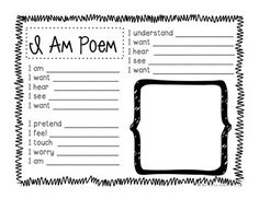 An I Am Poem is a GREAT way to engage students in autobiographical poetry or to engage your students in a creative character analysis!