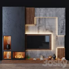 Modern Tv Unit Designs, Wall Unit Designs, Modern Tv Wall Units, Living Room Tv Unit Designs, Living Tv, Living Room Modern, My Living Room, Tv Cabinet Wall Design, Lcd Wall Design