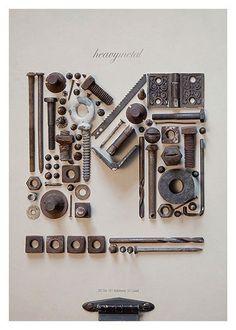 Typographic book cover - Heavymetal