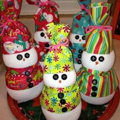 Snowmen gifts I made for Erika's teachers, really easy & cheap and as always fun :)
