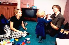 Thurston Moore and Kim Gordon, the guitarist and basisst for Sonic Youth, hang out and play with toddler Coco.