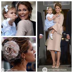 Princess Madeleine and Prinsess Leonore at the christening of Prince Oscar. (Foto: TT Nyhetsbyrån, @ttnyhetsbyran )