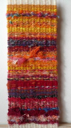 The main focus of this stage of my OCA Textiles 1 course is tapestry weaving. There are several exercises, leading up to a resolved sample. I used Kirsten Glasbrook's book Tapestry Weaving Pin Weaving, Loom Weaving, Weaving Designs, Weaving Projects, Weaving Textiles, Tapestry Weaving, Peg Loom, Tapestry Design, Weaving Techniques