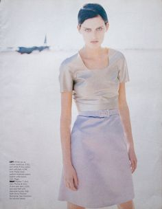 Stella Tennant by Perry Ogden - UK Marie Claire May 1995 Stella Tennant, Documentary Photographers, National Portrait Gallery, Film Director, Museum Of Modern Art, British Style, Marie Claire, Documentaries, Short Sleeve Dresses