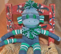 Blue and green monkey for the boy in your life! $21.95
