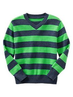 Striped V-neck sweater | Gap  | $33