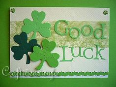 St. Patrick's day 'Good Luck' Card. A great and simple art and craft idea to do with kids.