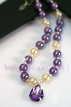Sofia the First Amulet-Inspired Pearl Necklace made by me!