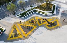 Landscape Plaza, Landscape Architecture Design, Green Architecture, Urban Landscape, Playground Design, Children Playground, Public Space Design, Mountain Designs, Landscape Drawings