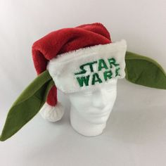 Star Wars Embroidered Yoda Santa Christmas Hat Red One Size Adult #LucasFilmLtd