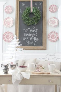 Gorgeous vignette for Christmas!