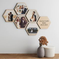 Wedding Photo Walls, Idee Diy, Photo Canvas, Wall Art Sets, Photo Displays, Picture Wall, Family Picture Collages, Decoration, New Baby Products