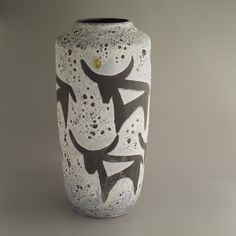 Vase by West Keramik 1950's lava glaze floor vase H45cm