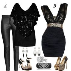 I love, love,love the dress! I like this other look for a night out also.