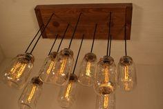 Mason Jar Chandelier Mason Jar Lighting by Bornagainwoodworks