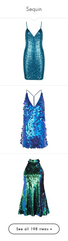 """""""Sequin"""" by heloisacintrao ❤ liked on Polyvore featuring dresses, blue, mini party dresses, blue dresses, sequin party dresses, short party dresses, blue sequin dress, sequin cocktail dresses, short sequin dress and blue mini dress"""