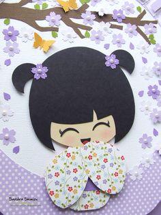 fun-ideas handmade: Kokeshi para J Momiji Doll, Kokeshi Dolls, Foam Crafts, Arts And Crafts, Paper Crafts, Japanese Party, Japanese Girl, Asian Crafts, Image Deco