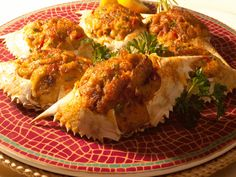 Cajun Delights: Spicy Cajun Stuffed Crabs + A Cajun Waltz and a Two-Step Cajun Recipes, Fish Recipes, Seafood Recipes, Chilli Recipes, Recipies, Creole Cooking, Cajun Cooking, Cajun Food, What's Cooking