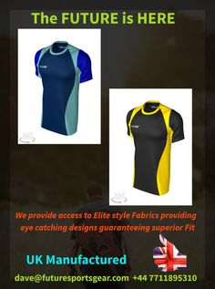 The Future is Here! Your Future😎Elite Fabrics providing superior fits for all apparel! Uk Manufactured🇬🇧Delivery in 3 wks! All lines 🏉⚽️✔️