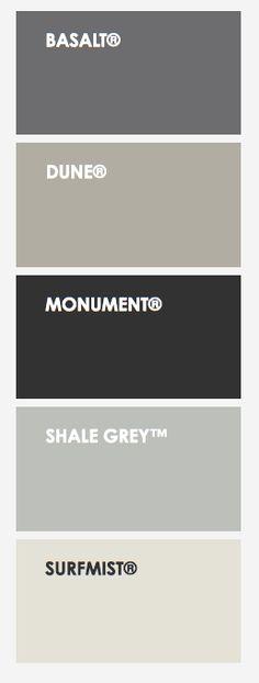 Colorbond® Steel Colours in Matt House Paint Exterior, Exterior Paint Colors, Exterior House Colors, Shed Colours, Roof Colors, Paint Colours, House Cladding, Facade House, Colourbond Colours