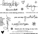 Technique Tuesday Clear Stamps, Loving Words by Ali Edwards